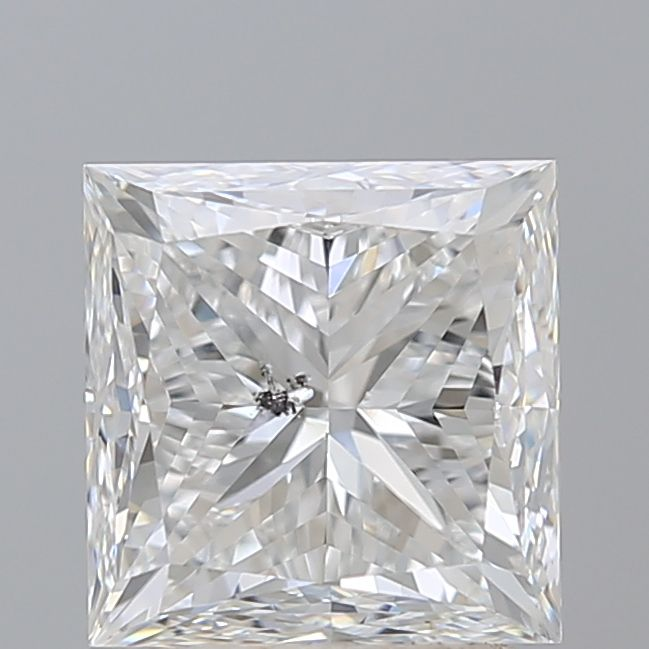 2.50 Carat Princess Loose Diamond, E, I1, Ideal, GIA Certified