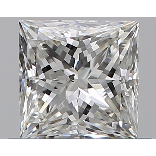0.51 Carat Princess Loose Diamond, H, SI1, Ideal, GIA Certified | Thumbnail