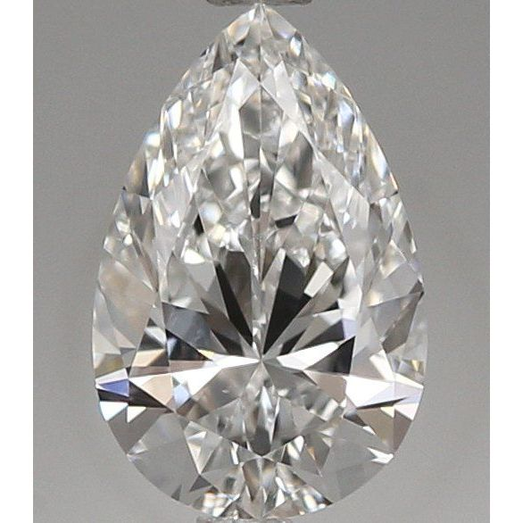 0.54 Carat Pear Loose Diamond, E, VVS2, Super Ideal, GIA Certified