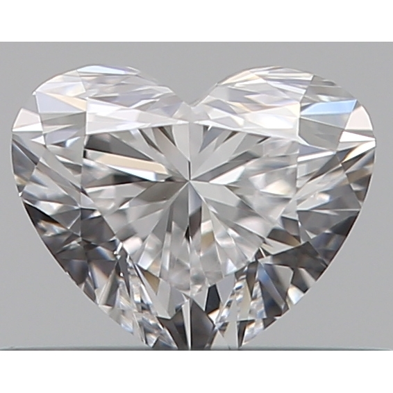 0.30 Carat Heart Loose Diamond, D, VVS1, Ideal, GIA Certified