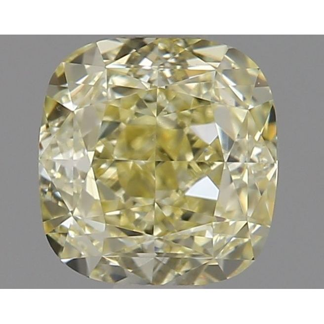 0.83 Carat Cushion Loose Diamond, Fancy Light Yellow, IF, Ideal, GIA Certified