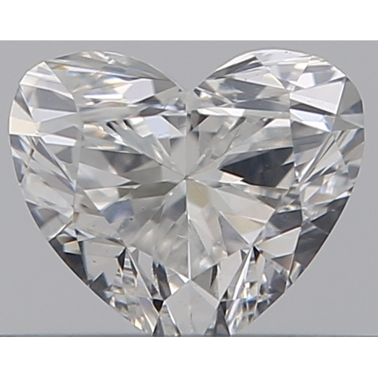 0.31 Carat Heart Loose Diamond, F, VS2, Super Ideal, GIA Certified | Thumbnail