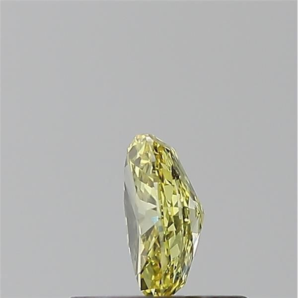 0.31 Carat Oval Loose Diamond, Fancy Intense Yellow, I1, Excellent, GIA Certified