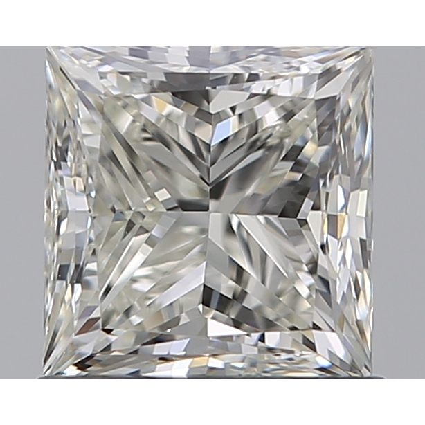 0.90 Carat Princess Loose Diamond, K, VS1, Ideal, GIA Certified