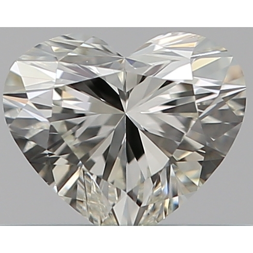 0.32 Carat Heart Loose Diamond, K, VVS1, Super Ideal, GIA Certified