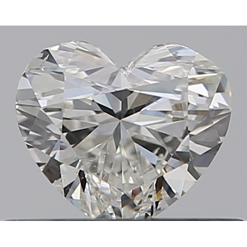 0.32 Carat Heart Loose Diamond, H, SI1, Super Ideal, GIA Certified | Thumbnail