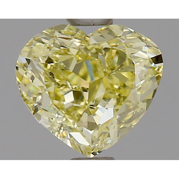 1.01 Carat Heart Loose Diamond, Fancy Yellow, SI2, Excellent, GIA Certified