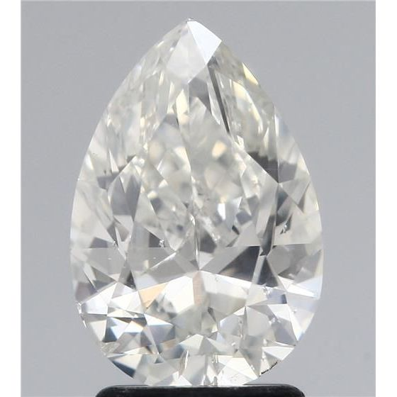 2.11 Carat Pear Loose Diamond, H, SI2, Ideal, HRD Certified | Thumbnail