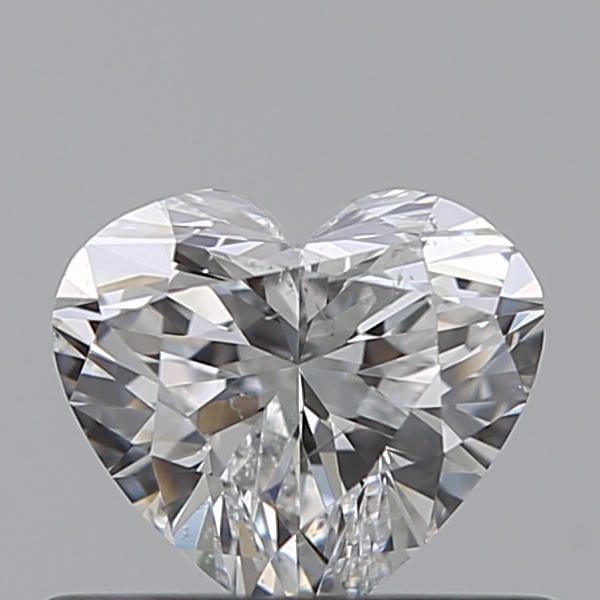 0.43 Carat Heart Loose Diamond, E, SI2, Ideal, HRD Certified