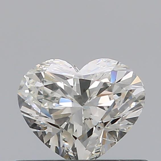 0.42 Carat Heart Loose Diamond, H, VS2, Super Ideal, HRD Certified | Thumbnail