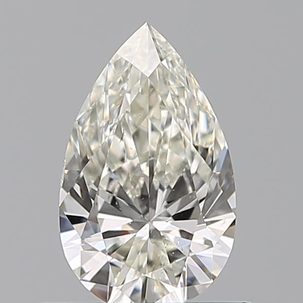 0.50 Carat Pear Loose Diamond, I, VS2, Super Ideal, HRD Certified