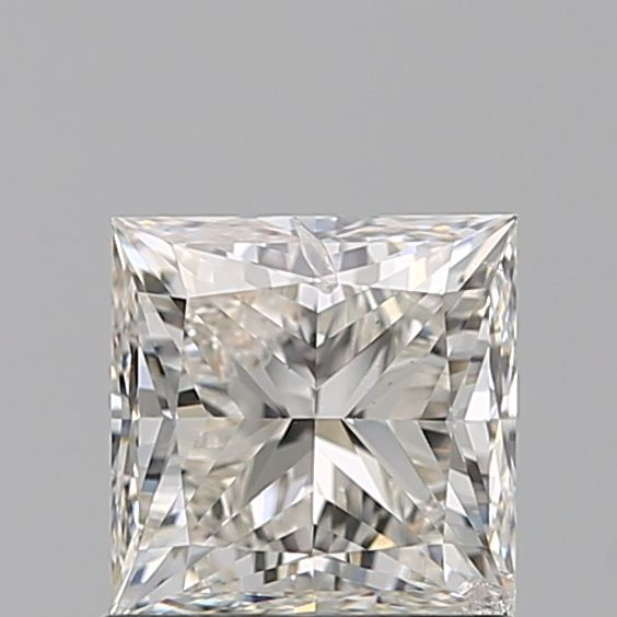 1.00 Carat Princess Loose Diamond, H, SI2, Super Ideal, HRD Certified