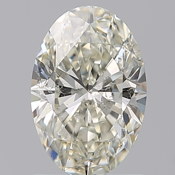 0.96 Carat Oval Loose Diamond, K, SI2, Super Ideal, HRD Certified
