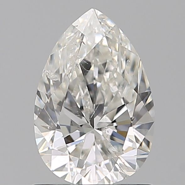 0.96 Carat Pear Loose Diamond, G, SI2, Ideal, HRD Certified