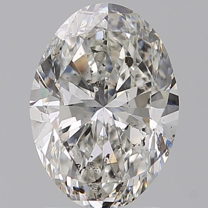 1.90 Carat Oval Loose Diamond, G, SI2, Ideal, HRD Certified