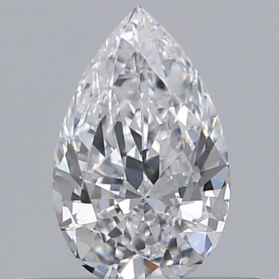 0.32 Carat Pear Loose Diamond, D, VS1, Ideal, HRD Certified