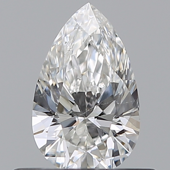 0.40 Carat Pear Loose Diamond, F, SI1, Ideal, HRD Certified | Thumbnail