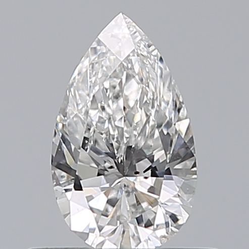 0.43 Carat Pear Loose Diamond, F, SI1, Ideal, HRD Certified