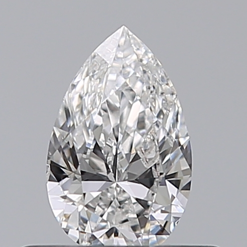0.39 Carat Pear Loose Diamond, D, SI2, Ideal, HRD Certified | Thumbnail