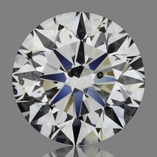 2.01 Carat Round Loose Diamond, F, SI2, Super Ideal, HRD Certified