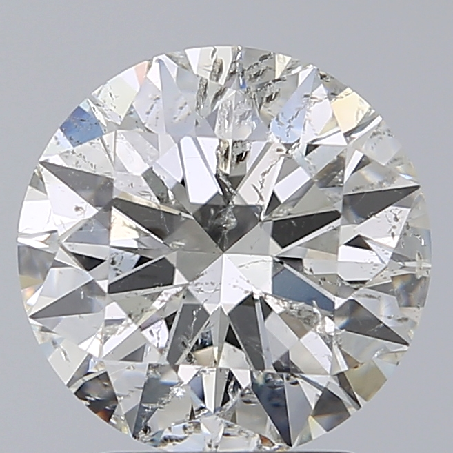 2.50 Carat Round Loose Diamond, G, SI2, Super Ideal, HRD Certified