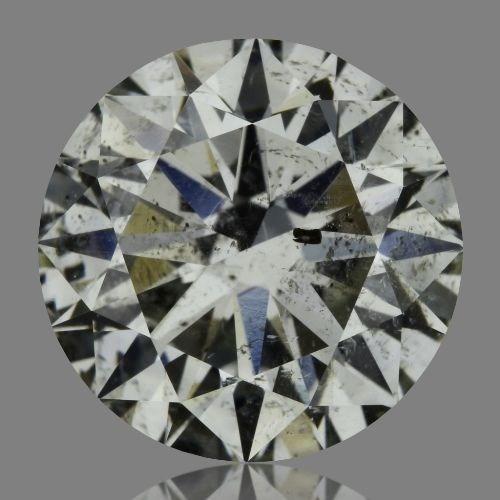 2.06 Carat Round Loose Diamond, I, SI2, Ideal, HRD Certified