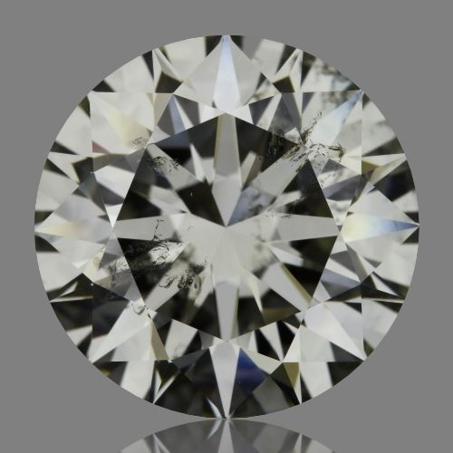 5.50 Carat Round Loose Diamond, I, SI2, Super Ideal, HRD Certified