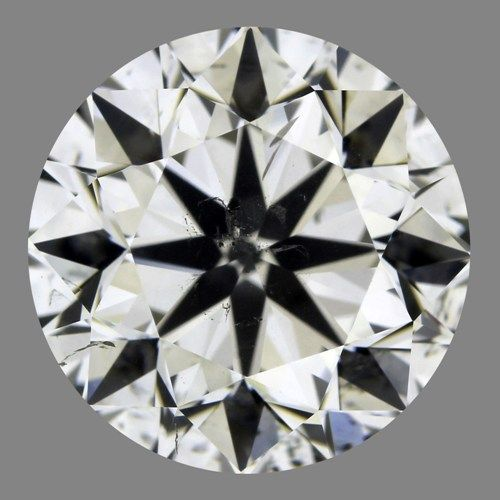 3.00 Carat Round Loose Diamond, I, SI2, Excellent, HRD Certified