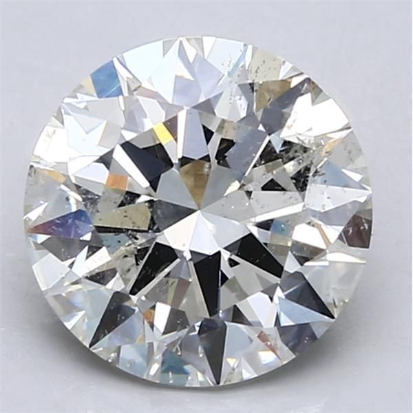 3.01 Carat Round Loose Diamond, H, SI2, Ideal, HRD Certified