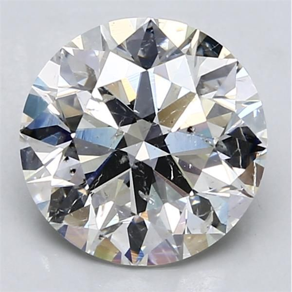 3.03 Carat Round Loose Diamond, G, SI2, Super Ideal, HRD Certified