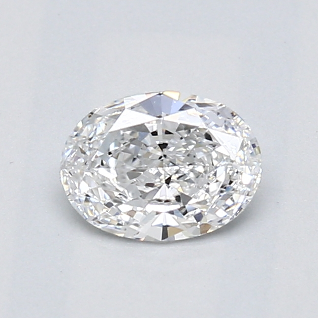 0.52 Carat Oval Loose Diamond, D, IF, Excellent, GIA Certified