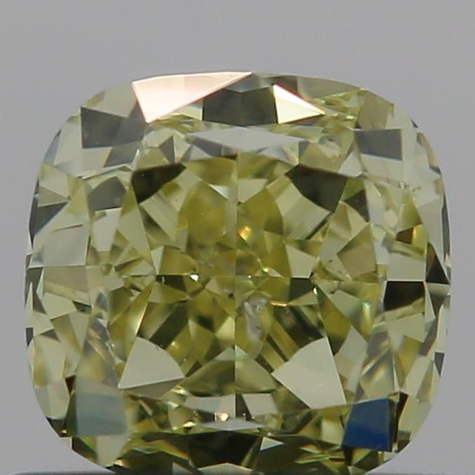 0.72 Carat Cushion Loose Diamond, Fancy Yellow, SI1, Excellent, GIA Certified