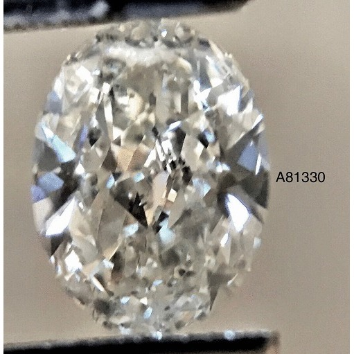 0.80 Carat Oval Loose Diamond, I, SI2, Excellent, GIA Certified