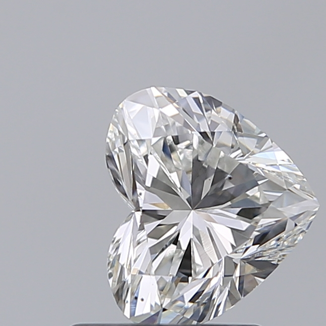 1.00 Carat Heart Loose Diamond, G, VS2, Ideal, GIA Certified