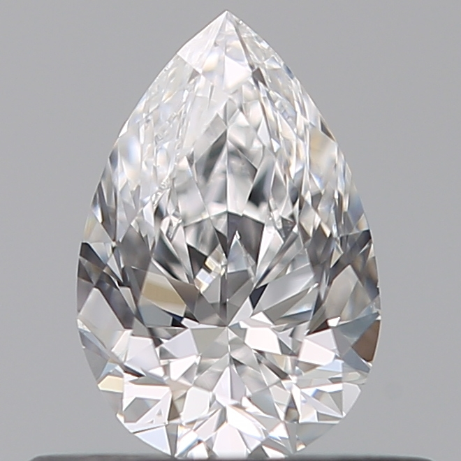 0.42 Carat Pear Loose Diamond, D, VVS2, Ideal, GIA Certified | Thumbnail