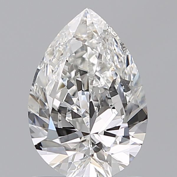 0.99 Carat Pear Loose Diamond, F, VS2, Excellent, GIA Certified