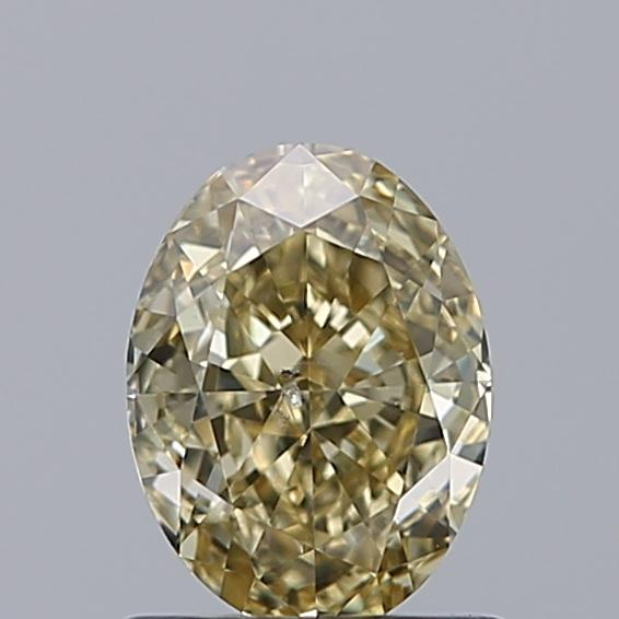 1.03 Carat Oval Loose Diamond, FANCY, SI2, Ideal, GIA Certified | Thumbnail