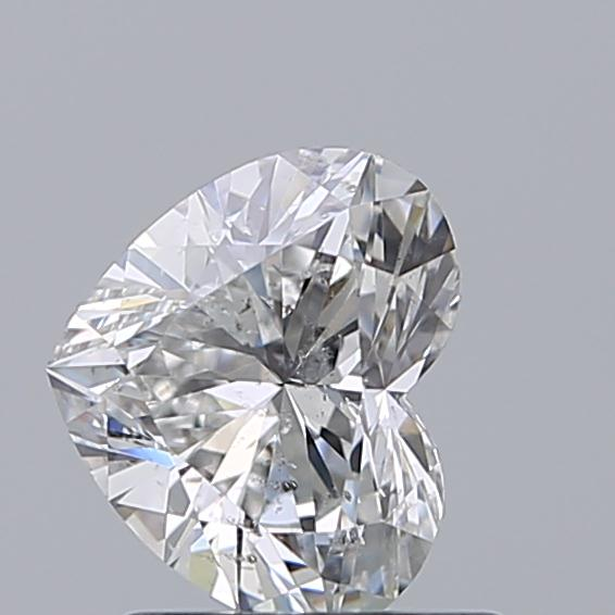 1.00 Carat Heart Loose Diamond, E, SI2, Ideal, GIA Certified
