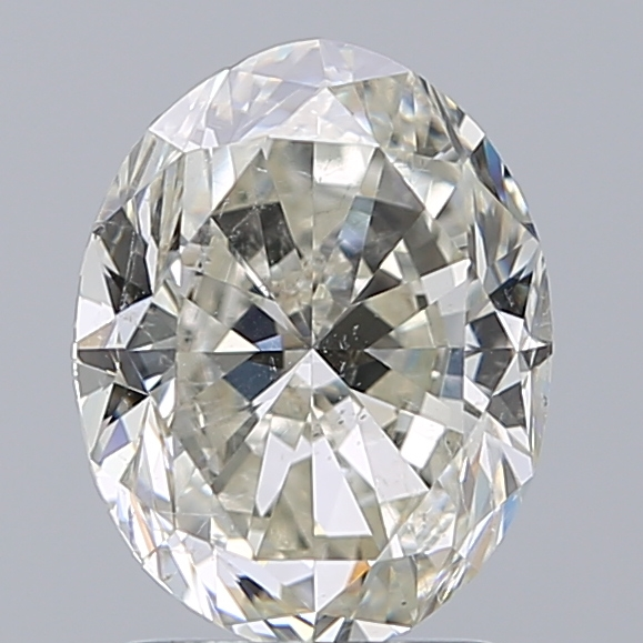 2.01 Carat Oval Loose Diamond, K, SI2, Excellent, GIA Certified