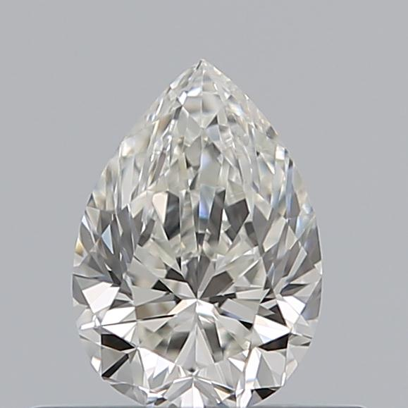 0.40 Carat Pear Loose Diamond, I, VVS2, Excellent, GIA Certified