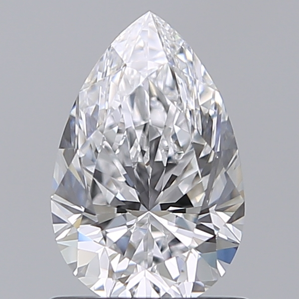 1.00 Carat Pear Loose Diamond, D, VVS1, Ideal, GIA Certified