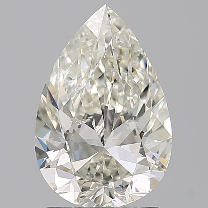 1.50 Carat Pear Loose Diamond, J, SI2, Excellent, GIA Certified