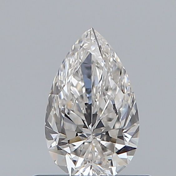 0.52 Carat Pear Loose Diamond, H, VVS2, Super Ideal, GIA Certified