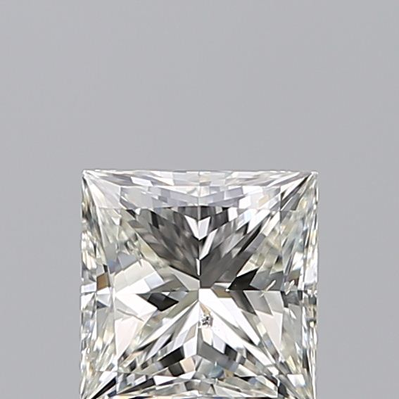 0.96 Carat Princess Loose Diamond, J, SI2, Ideal, GIA Certified
