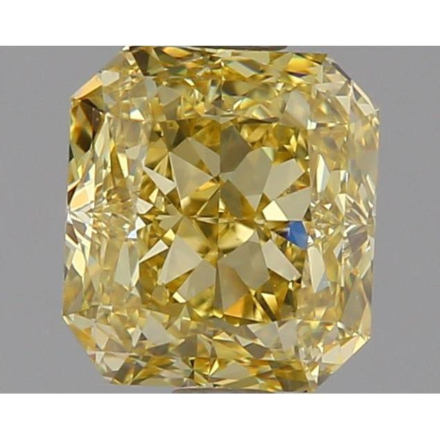 1.12 Carat Radiant Loose Diamond, Fancy Yellow, VS1, Excellent, GIA Certified