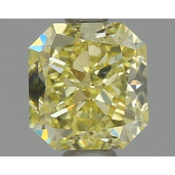 0.70 Carat Radiant Loose Diamond, Fancy Yellow, VVS1, Ideal, GIA Certified