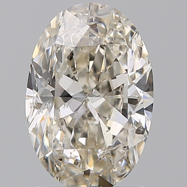 1.50 Carat Oval Loose Diamond, K, SI2, Excellent, GIA Certified | Thumbnail