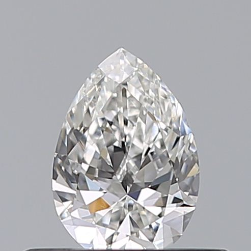 0.33 Carat Pear Loose Diamond, F, VVS2, Excellent, GIA Certified