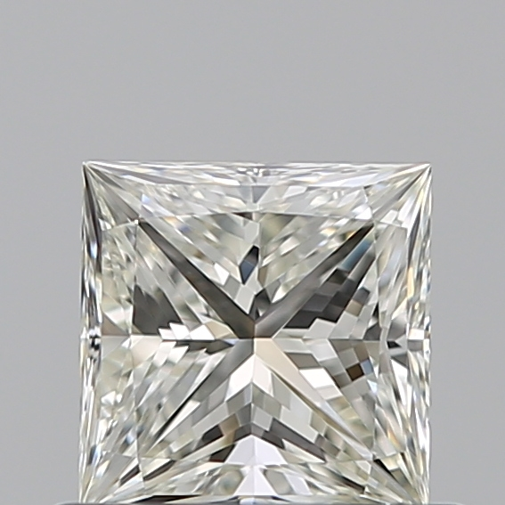 0.50 Carat Princess Loose Diamond, J, VVS2, Ideal, GIA Certified
