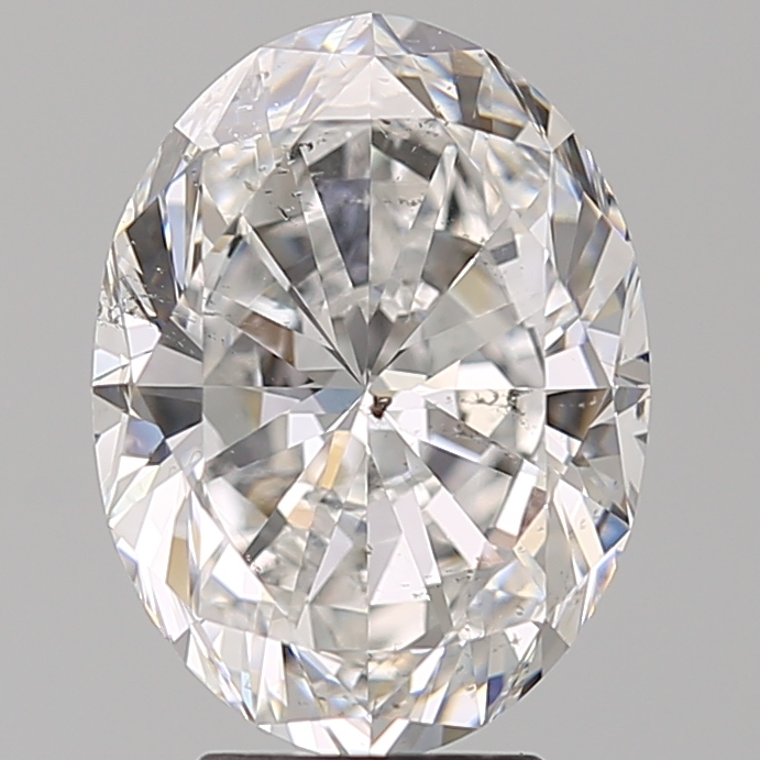 4.03 Carat Oval Loose Diamond, D, SI2, Super Ideal, GIA Certified | Thumbnail